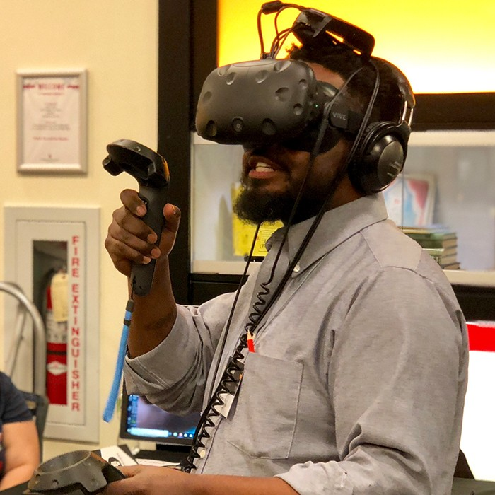 Attendee trying Virtual Reality