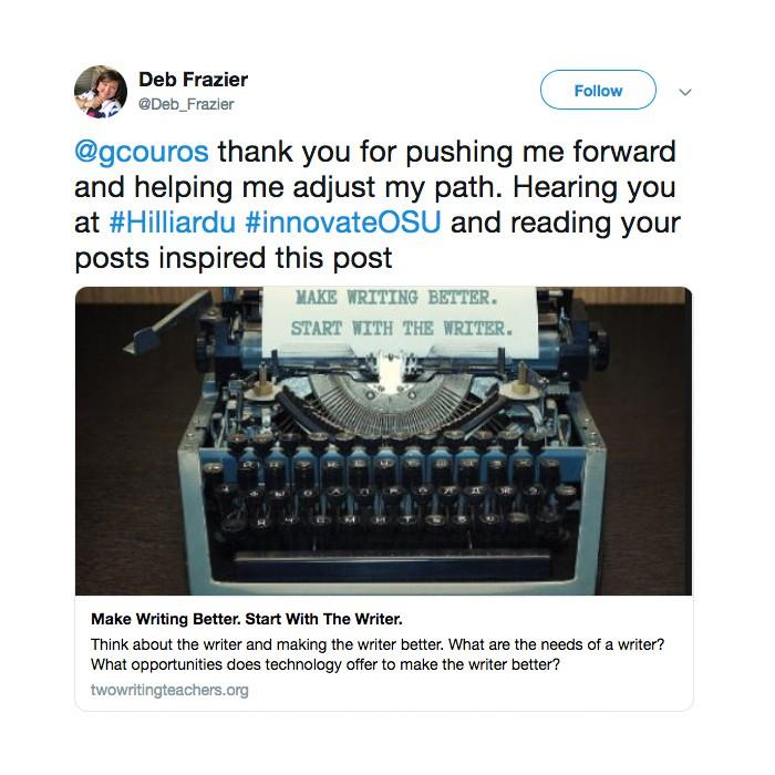 Innovate Tweet